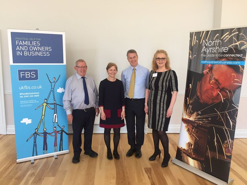 Family Business Solutions Ltd and Campbell Dallas team up for North Ayrshire Council Event