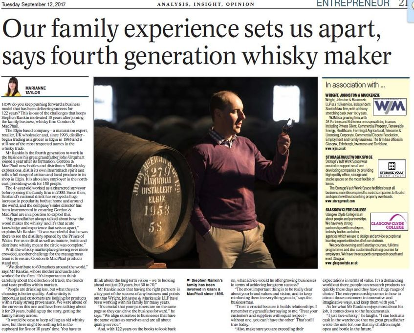 Gordon & MacPhail Case Study in Today's Herald