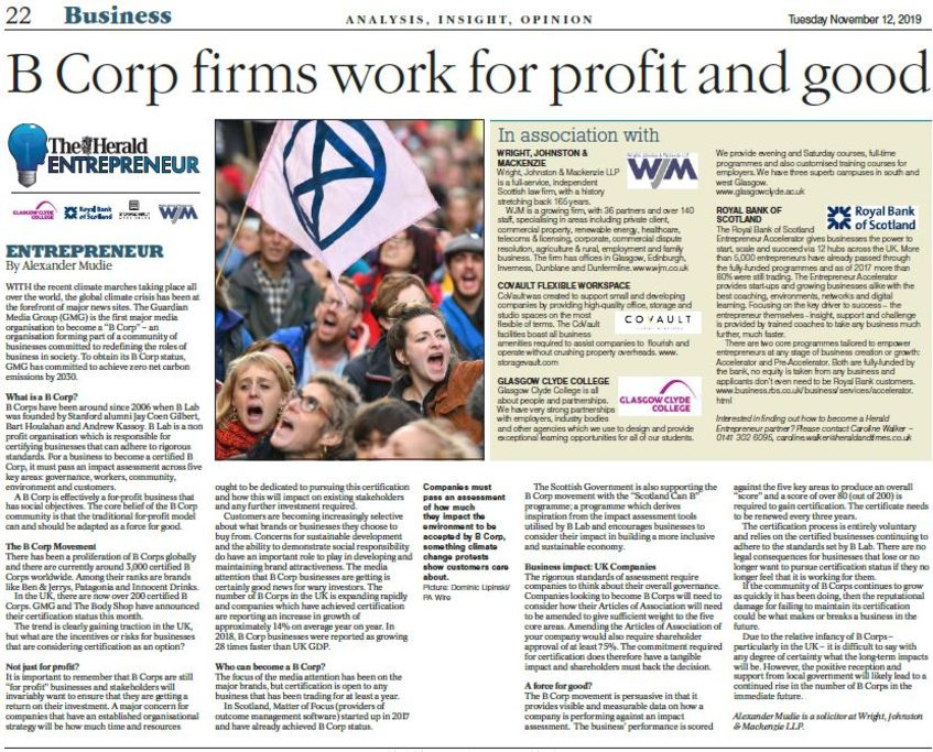 "The Rise in Responsible Companies: The ""B Corp Movement"" in the UK"